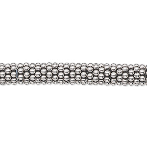 bead, antiqued sterling silver, 6x2mm rondelle with 2mm hole. sold per 1/4 troy ounce pkg, approximately 20-25 beads.