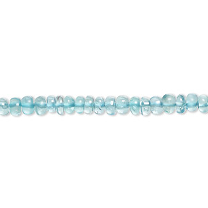 bead, apatite (natural), 3x2mm-4x2mm hand-cut graduated rondelle with 0.4-1.4mm hole, b grade, mohs hardness 5. sold per 16-inch strand.