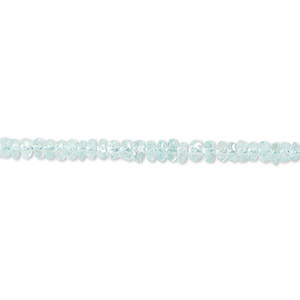 bead, apatite (natural), 3x2mm-5x4mm hand-cut faceted rondelle, b- grade, mohs hardness 5. sold per 16-inch strand.