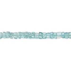 bead, apatite (natural), 4x1mm-5x3mm hand-cut heishi, b grade, mohs hardness 5. sold per 13-inch strand.