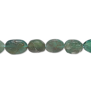 bead, apatite (natural), 8x6mm-14x9mm hand-cut flat oval, f grade, mohs hardness 5. sold per 13-inch strand.