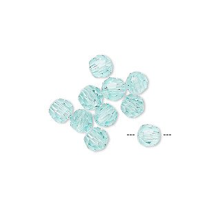 bead, asfour crystal, crystal, antique green, 6mm faceted round. sold per pkg of 12.