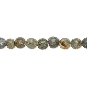 bead, autumn jasper (natural), 5-6mm round, d grade, mohs hardness 6-1/2 to 7. sold per 15-inch strand.