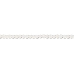 bead, bamboo coral (bleached), white, 2mm round with 0.5mm hole, b- grade, mohs hardness 3-1/2 to 4. sold per 16-inch strand.