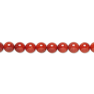 bead, bamboo coral (dyed), red, 6mm round, a- grade, mohs hardness 3-1/2 to 4. sold per 16-inch strand.