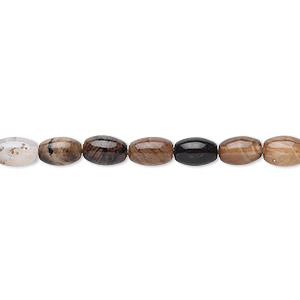 bead, black agate (dyed), 6x4mm oval, b grade, mohs hardness 6-1/2 to 7. sold per 16-inch strand.