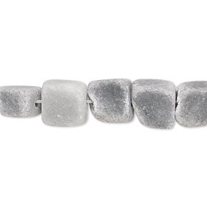 bead, black and grey marble (natural), matte, mini to small nugget, mohs hardness 3. sold per 15-inch strand.