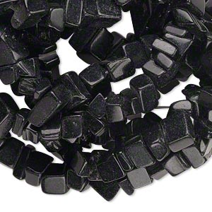bead, blackstone (dyed), medium chip, mohs hardness 6-1/2 to 7. sold per 36-inch strand.
