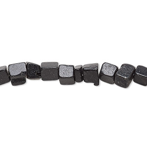 bead, blackstone (dyed), small chip, mohs hardness 6-1/2 to 7. sold per 34-inch strand.