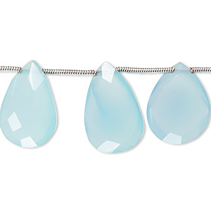 Side Drill  Top  Drill One Full Strand. Dyed Blue Chalcedony Faceted Heart Shape 5-6 MM