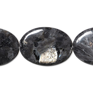 bead, blue labradorite (natural), 25x18mm flat oval, b- grade, mohs hardness 6 to 6-1/2. sold per 16-inch strand.