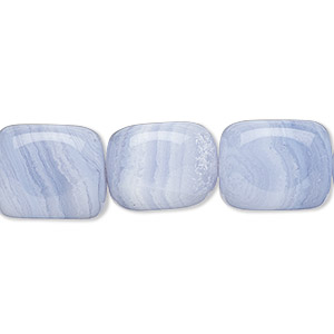 bead, blue lace agate (natural), medium tumbled nugget, mohs hardness 6-1/2 to 7. sold per 16-inch strand.