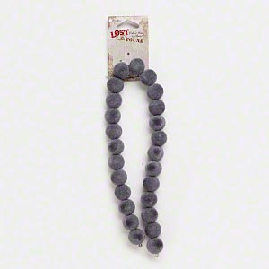 bead, blue moon beads, acrylic, grey, 14mm round. sold per pkg of 25 beads.