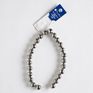 bead, blue moon beads, antique silver-finished brass, 13mm hammered round. sold per 12-inch strand, approximately 20 beads.