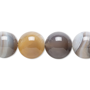 bead, botswana agate (natural), 14mm round, b grade, mohs hardness 6-1/2 to 7. sold per 16-inch strand.