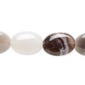 bead, botswana agate (natural), 18x13mm flat oval, b grade, mohs hardness 6-1/2 to 7. sold per 16-inch strand.