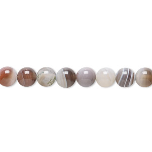 bead, botswana agate (natural), 6mm round, b grade, mohs hardness 6-1/2 to 7. sold per 16-inch strand.