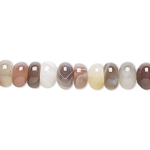 Natural Pink Botswana Agate Faceted Rondelle Hole Beads 8x14mm 5mm Hole #ZX-503