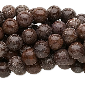 bead, brown snowflake jasper (natural), 8mm round, c grade, mohs hardness 6-1/2 to 7. sold per pkg of (10) 16-inch strands.