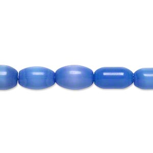 bead, cats eye glass, dark blue-violet, 10x6mm-11x7mm oval and barrel, economy grade. sold per 15-inch strand.