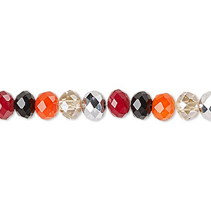 bead, celestial crystal, berries, 6x4mm faceted rondelle. sold per 16-inch strand.