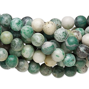 bead, ching hai jade (natural), 8mm round, c grade, mohs hardness 3-1/2 to 4. sold per pkg of (10) 16-inch strands.
