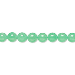 bead, chrysoprase (natural), 6mm round, a- grade, mohs hardness 6-1/2 to 7. sold per 15-inch strand.