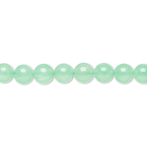 bead, chrysoprase (natural), 6mm round, b- grade, mohs hardness 6-1/2 to 7. sold per 15-inch strand.
