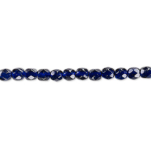 bead, czech fire-polished dipped decor glass, plum, 4mm faceted round. sold per 16-inch strand, approximately 100 beads.