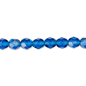 6mm Transparent Straw Fire Polished Bead #FPX234 25 Pcs