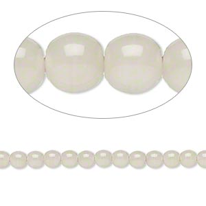 bead, czech glass druk, khaki, 4mm round with 0.8-1mm hole. sold per 16-inch strand.