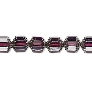bead, czech glass, light purple and metallic light purple, 8mm round cathedral. sold per 16-inch strand.