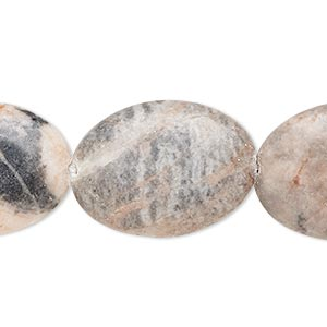 bead, desert pink marble (natural), 25x18mm-26x19mm puffed oval, b- grade, mohs hardness 3. sold per 15-inch strand.