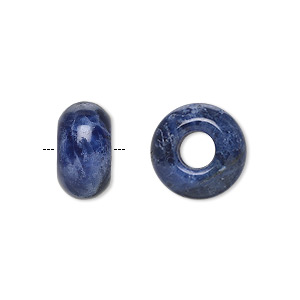 bead, dione, sodalite (natural), 14x8mm rondelle with 5mm hole, b grade, mohs hardness 5 to 6. sold per pkg of 2.