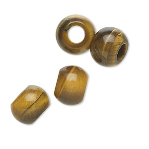 bead, dione, tigereye (natural), 12x9mm hand-cut rondelle, 5mm hole, b grade, mohs hardness 7. sold per pkg of 4.
