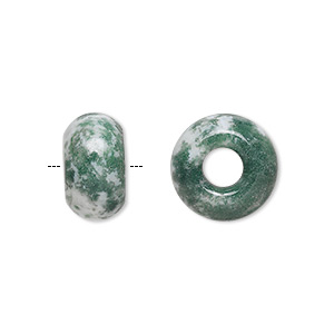 bead, dione, tree agate (natural), 14x8mm rondelle with 5mm hole, b grade, mohs hardness 6-1/2 to 7. sold per pkg of 2.