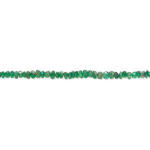 bead, emerald (natural), 2x1mm-3x3mm graduated hand-cut faceted rondelle, c grade, mohs hardness 7-1/2 to 8. sold per 16-inch strand.