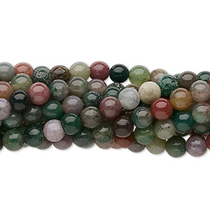 bead, fancy jasper (natural), 4mm round, c grade, mohs hardness 6-1/2 to 7. sold per pkg of (10) 16-inch strands.