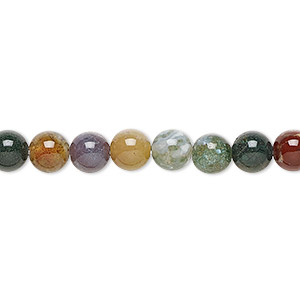 bead, fancy jasper (natural), 6mm round, b grade, mohs hardness 6-1/2 to 7. sold per 16-inch strand.