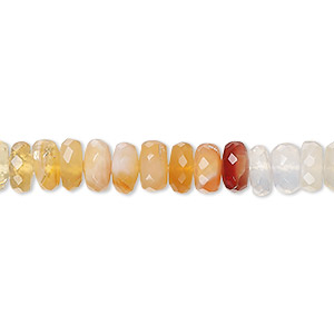 AAAA quality Natural Fire opal shaded micro faceted rondelle beads size 5.25-5.5mm sold per 16-inch strand GW552