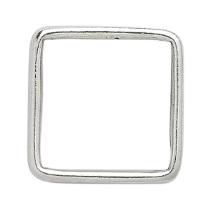 bead frame, jbb findings, sterling silver, 15x15mm beaded square, fits up to 10mm bead. sold individually.