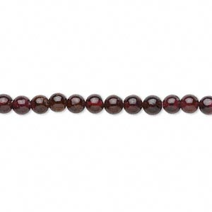 bead, garnet (dyed), 3-4mm hand-cut round, c grade, mohs hardness 7 to 7-1/2. sold per 14-inch strand.
