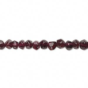 bead, garnet (dyed), 4-6mm hand-cut tumbled faceted round, c grade, mohs hardness 7 to 7-1/2. sold per 14-inch strand.