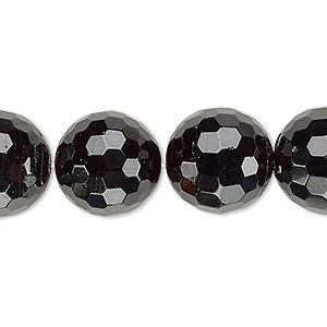 bead, garnet (natural), 15-16mm faceted round, c+ grade, mohs hardness 7 to 7-1/2. sold per 8-inch strand.