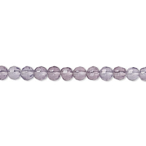 bead, glass, grape, 3-4mm faceted round. sold per 12-inch strand.