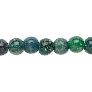 bead, green aventurine and blue-green aventurine (natural / dyed), 7-9mm hand-cut round, c grade, mohs hardness 7. sold per 12-inch strand.