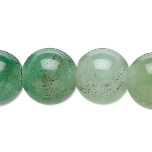 bead, green aventurine (natural), 8mm round with 2-2.5mm hole, b grade, mohs hardness 7. sold per pkg of 10.