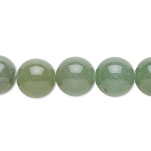bead, green aventurine (natural), dark, 12mm round, b grade, mohs hardness 7. sold per 16-inch strand.