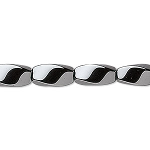 bead, hemalyke™ (man-made), 12x6mm twisted oval. sold per 16-inch strand.