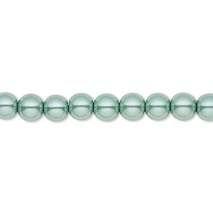 bead, hemalyke™ (man-made), pearlescent teal, 6mm round. sold per 16-inch strand.